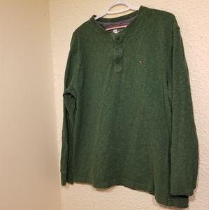 Tommy Hilfiger 3 Button Long Sleeve Shirt